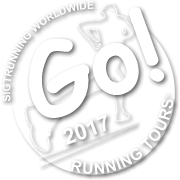 """a little white logo with heading """"Go running tours"""""""